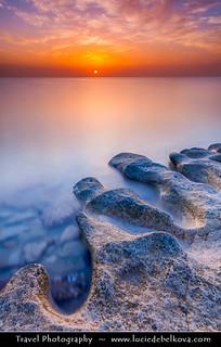 Kuwait - Beautiful Morning on Enjefa Beach in Maseela