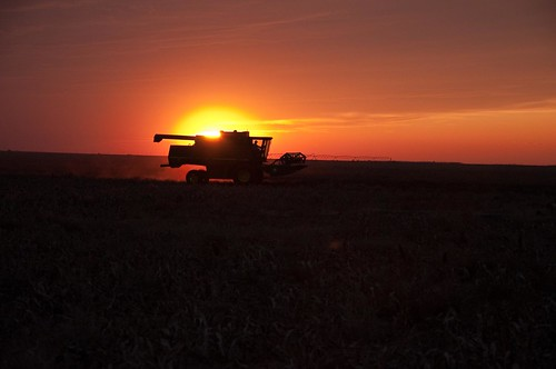 sunset red orange usa tractor color field clouds evening nikon sundown image pheasant dusk farm farming hunting harvest combine kansas copeland d90 kansassunset sublette