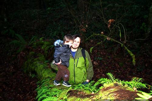 sequoia & sean walking home    MG 1226