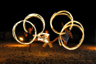 fire dance at puerto galera
