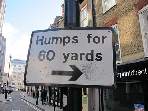 watch for humps!