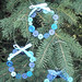 Trio of Blue Button Wreaths