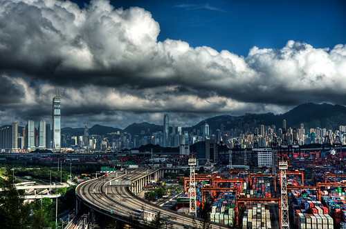 Big clouds over Hong Kong...