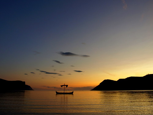 sunset seascape night clouds landscape boat iceland clear vikingship vestfirðir westfjords dýrafjörður mywinners þingeyri spiritofphotography doublyniceshot