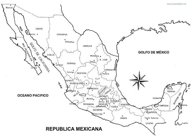 La republica mexicana con nombres  Imagui