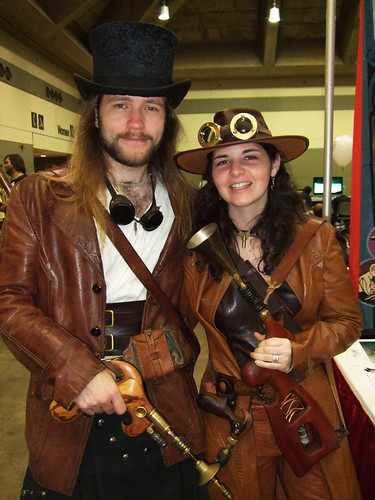 A steampunk couple