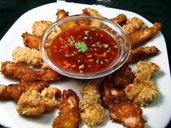 fried food, chicken tikka, seafood, meat, food, dish, cuisine, fast food,