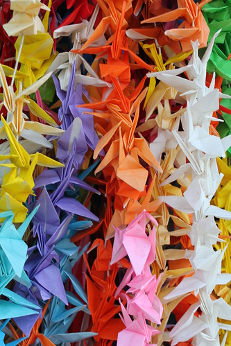 Colourful Paper Cranes at Hiroshima