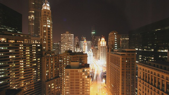 Night turns to day on Michigan Avenue
