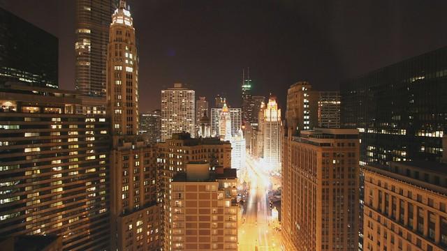 Night turns to day on Michigan Avenue
