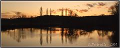coucher de soleil à Scey sur Saone