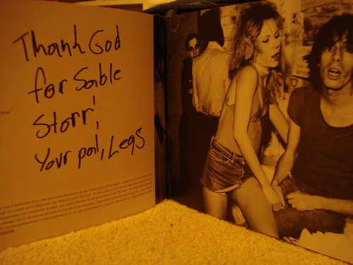 """12/18/09 Legs McNeil Autographed copy of """"CBGB: Thirty Years from the Home of Underground Rock"""""""