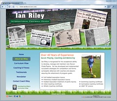 Ian Riley Football Coach Flash Website