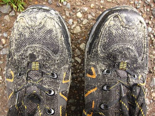 Sandy Shoes After Stewart Island Walks