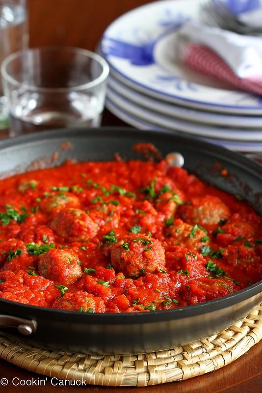 Baked Butternut Squash & Turkey Meatballs Recipe | cookincanuck.com #meatballs