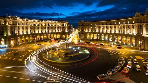 roma rome piazzaesedra night cityscape italia italy efs1022mmf3545usm canon 70d longexposure