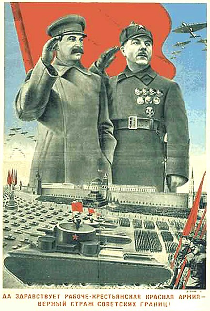 1935-giant Stalin and other guy wave
