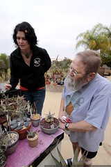 chips and rachel touring the succulent garden