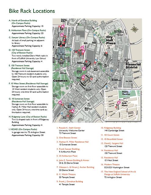 Suffolk University Bike Parking Map Suffolk Bikes Flickr