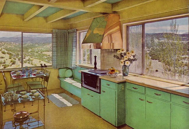 Yellow Green Kitchen : The Green Kitchen  Caption reads: Sky, mountains, desert, a ...