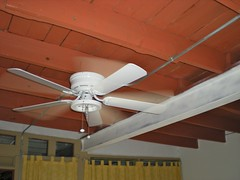 room, ceiling fan, ceiling, beam, mechanical fan,