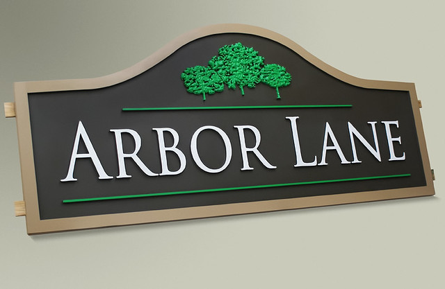 custom subdivision wood signs by strata outdoor signage flickr photo sharing