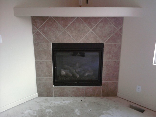 tile around fireplace flickr photo