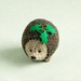 christmas hedgehog pincushion