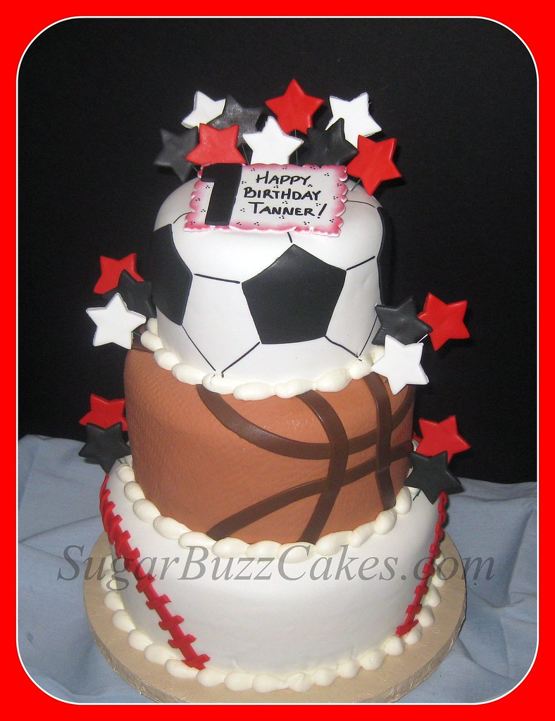 Sports Balls Birthday Cake A Photo On Flickriver