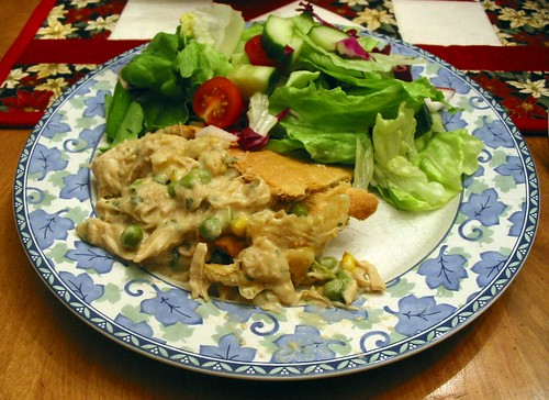 Turkey Pot Pie & Salad