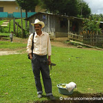 Honduran Man Waiting with his Machete - Marcala, Honduras