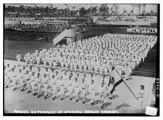 Parade of Turners at opening Berlin stadium  (LOC)