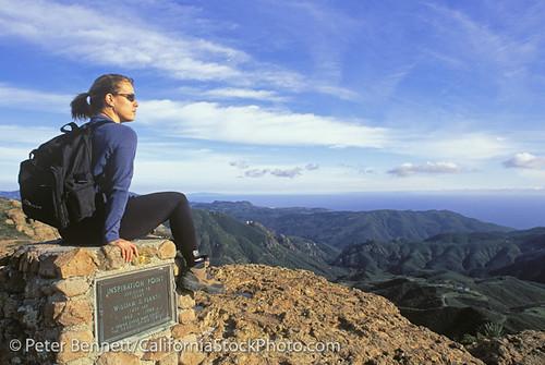 Hiker inspiration point backbone trail santa monica for Cox paint santa monica