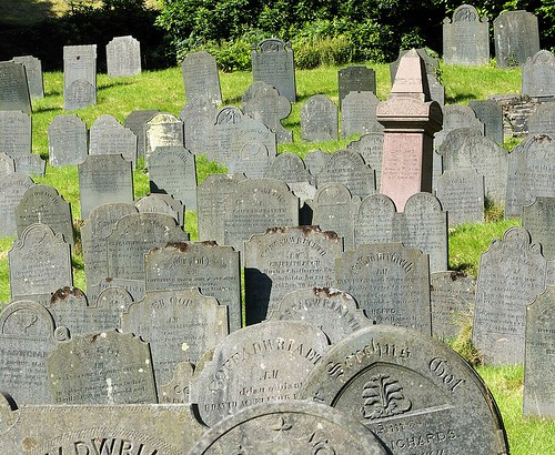 Slate gravestones in Corris North Wales