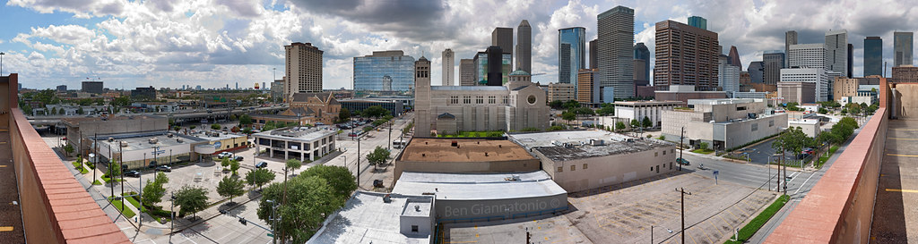 Interactive Downtown Houston Skyline - 416 Megapixel