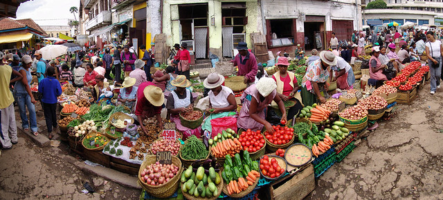 Street market, Antananarivo, Madagascar Island