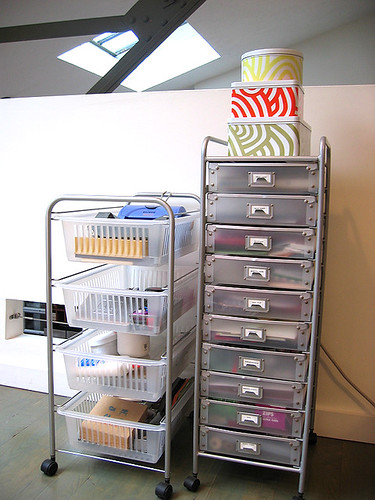 Paper and Craft Supply Carts