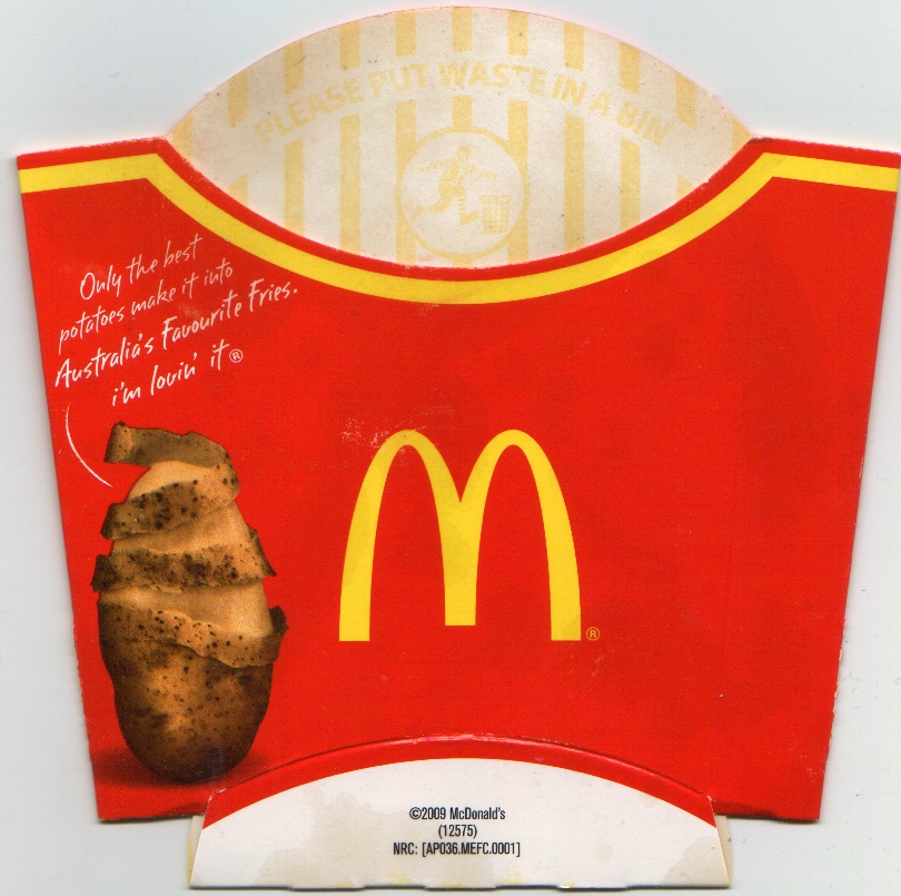 2009 Mcdonald S Australia French Fries Packet A Photo On