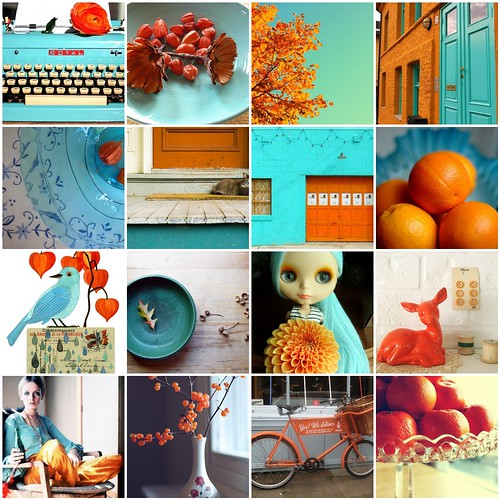 Turquoise and Orange by moline
