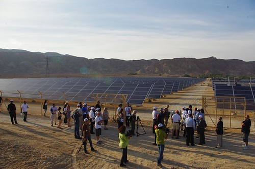 Ribbon-cutting Arava Power solar power plant in Israel. Flickr/the_greenprophet
