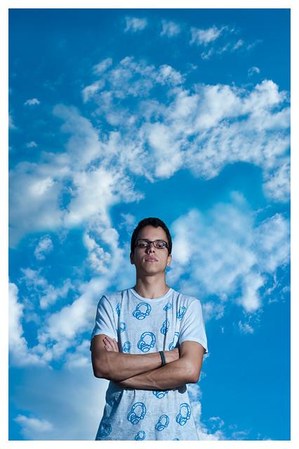 Alex and the blue sky.