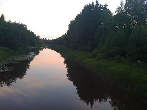 bridge finland river suspension silta joki ulvila kokemäenjoki riippusilta
