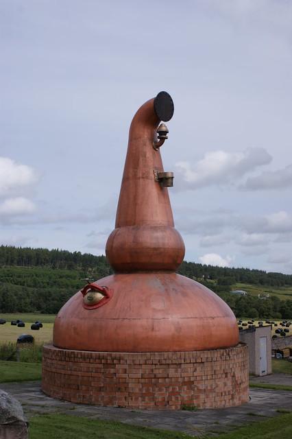 Glenfarclas Distillery - Old still outside