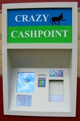 automated teller machine, signage, sign,