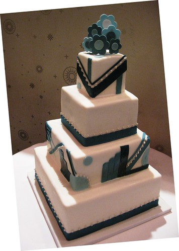 Art Deco Design Cake : art deco wedding cake Reference For Wedding Decoration