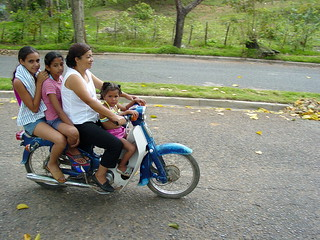 Four Gals on One Bike - Jarabacoa - Dominican Republic