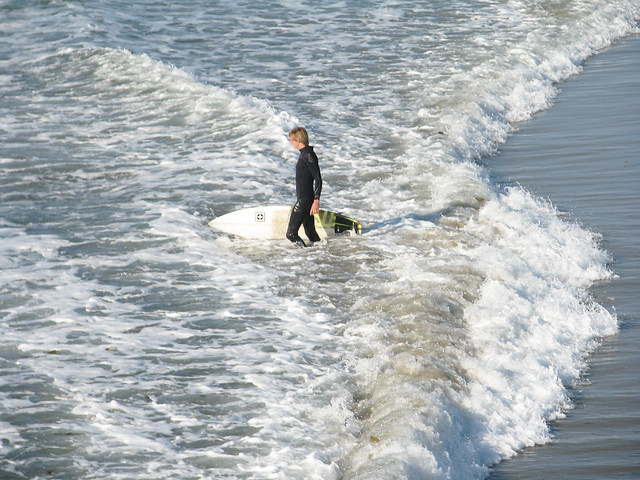 Ocean Beach surfer