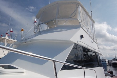 With all the tasteful upgrades and styling the Hatteras 42 Convertible was ...