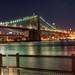 Brooklyn Bridge at Night by Werner Kunz