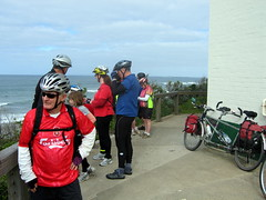 MBTC tandem weekend - admiring the view at Point Lonsdale lighthouse